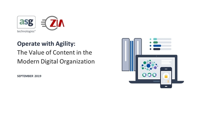 Operate with Agility: The Value of Content in the Modern Digital Organization