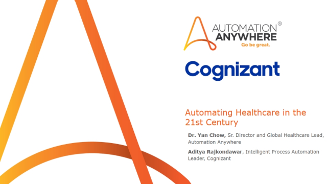 Automating Healthcare in the 21st Century