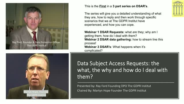 Data Subject Access Requests: the what, the why and how do I deal with them?