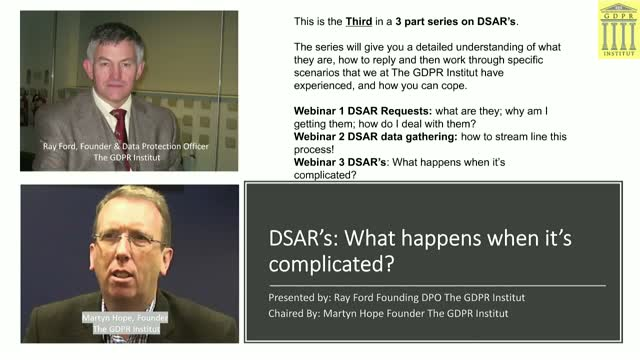 DSAR's#3: What happens when it's complicated?