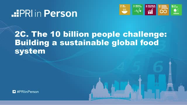 PIP19 - 10 billion people challenge: Building a sustainable global food system