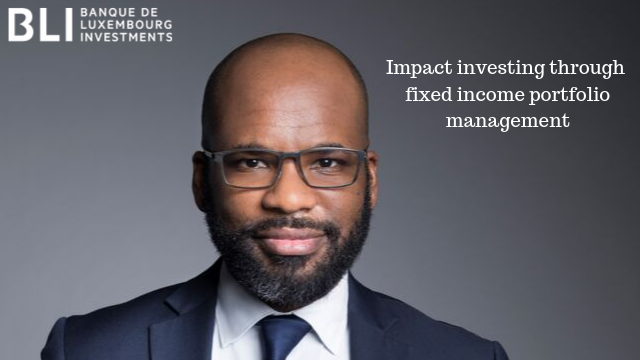 Impact investing through fixed income portfolio management