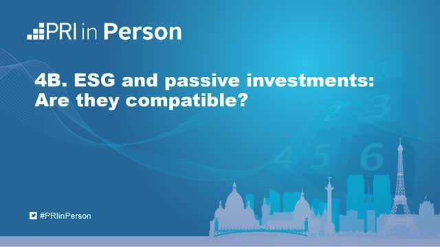 PIP19 - ESG and passive investments: Are they compatible?