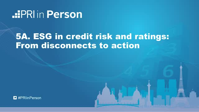 PIP19 - ESG in credit risk and ratings: From disconnects to action