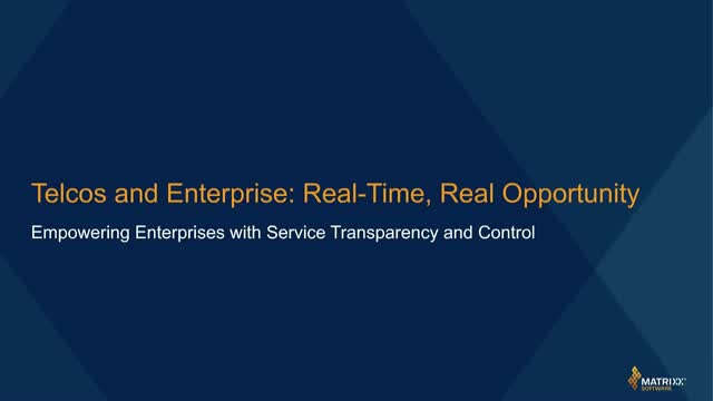 Telcos and Enterprise: Real-Time, Real Opportunity