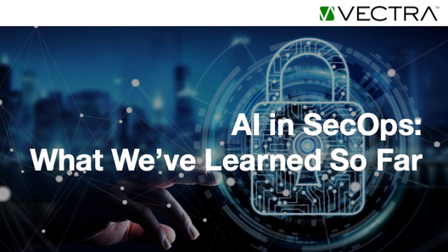 AI in security operations: What we've learned so far.