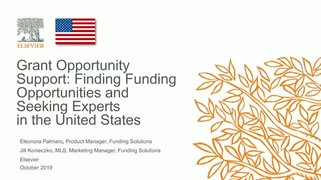 Grant Opportunity Support: Finding Opportunities & Experts (US)