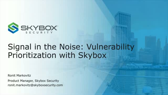 Signal in the Noise: Vulnerability Prioritization with Skybox
