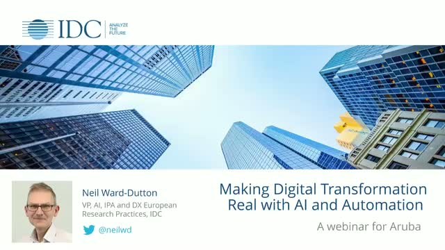Making Digital Transformation real with AI and automation