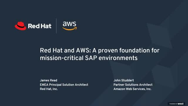Red Hat and AWS: A proven foundation for mission-critical SAP environments