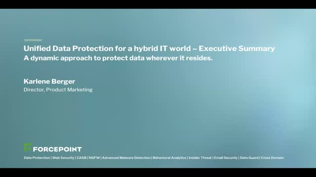 APAC: Unified Data Protection for Hybrid IT - Executive Summary