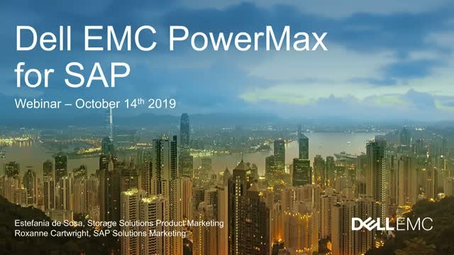 Modernize IT with PowerMax to Run SAP in the Digital Era