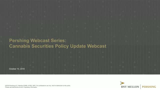 Cannabis Securities Policy Update Webcast