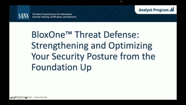Strengthening and Optimizing Your Security Posture from the Foundation Up
