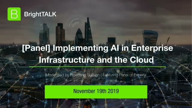 [Panel] Implementing AI in Enterprise Infrastructure and Cloud