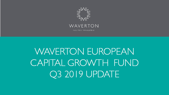 Waverton European Capital Growth Fund Update Q3 2019