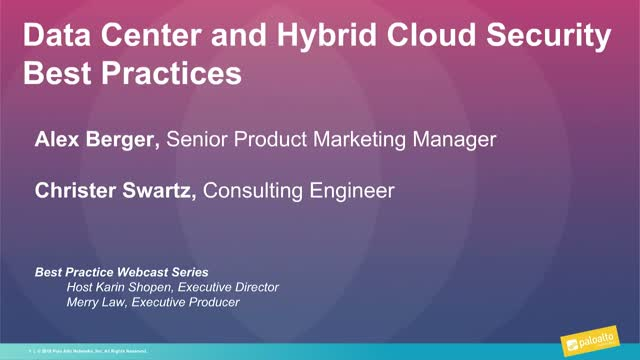 Data Center and Hybrid Cloud Security Best Practices
