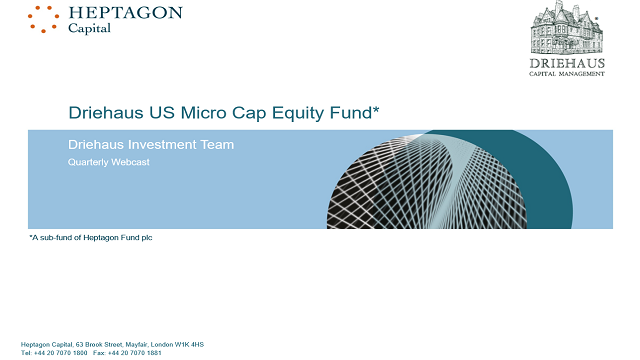 Driehaus US Micro Cap Equity Fund Q3 2019 Webcast