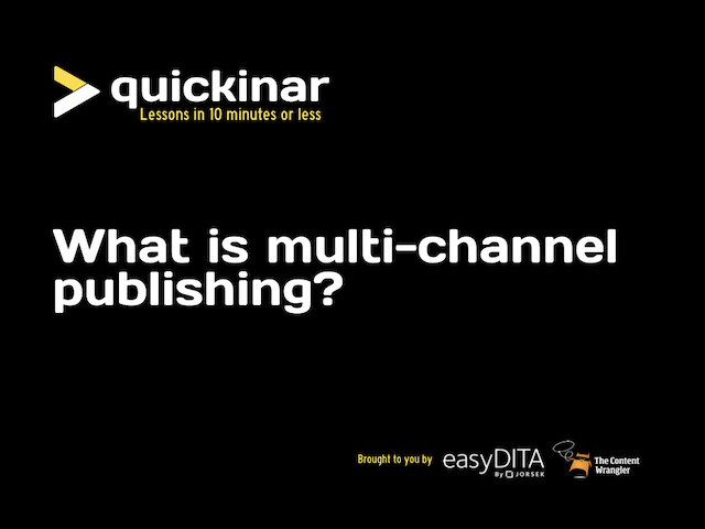 [Quickinar] What is multi-channel publishing?