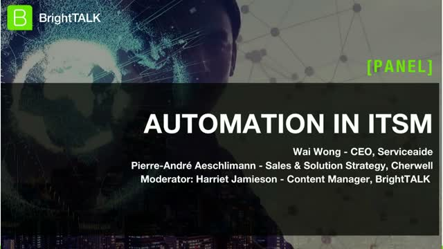 [Panel] Automation in ITSM to Optimize Digital Transformation