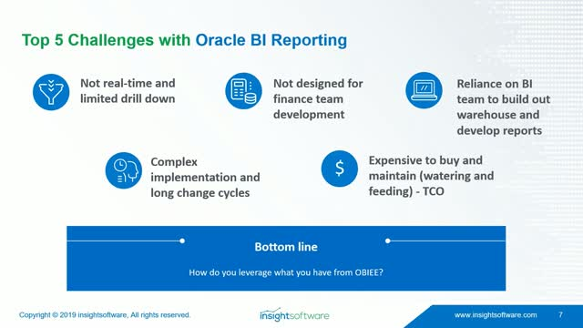 Challenges with Oracle BI - 5 Ways to Resolve the Gaps