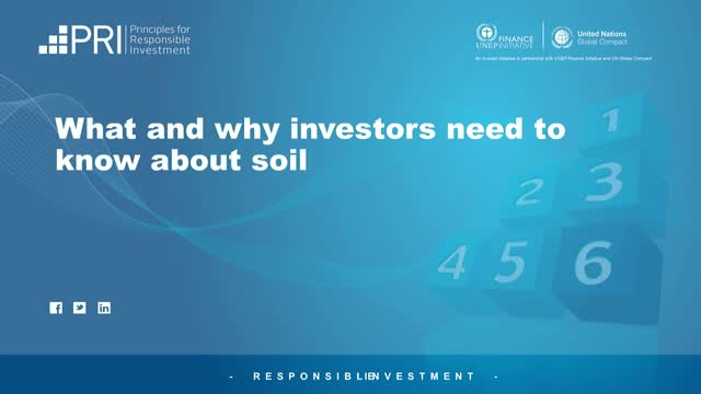 What and why investors need to know about soil health