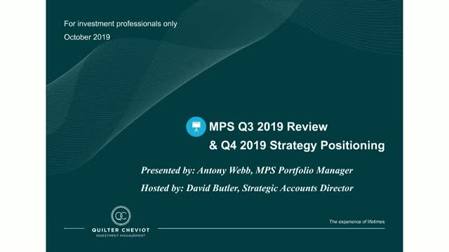 Quilter Cheviot MPS Q3 2019 review
