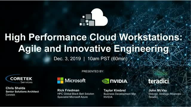 High Performance Cloud Workstations: Agile and Innovative Engineering