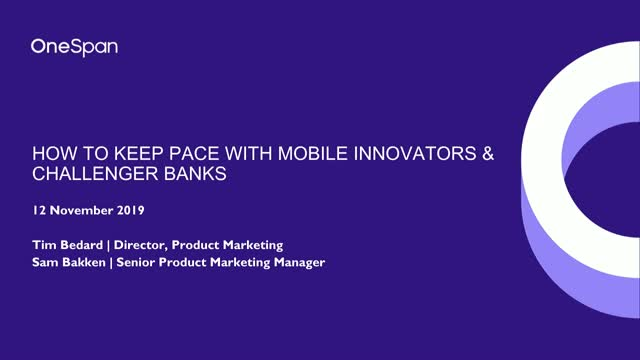 How to keep pace with mobile innovators and challenger banks