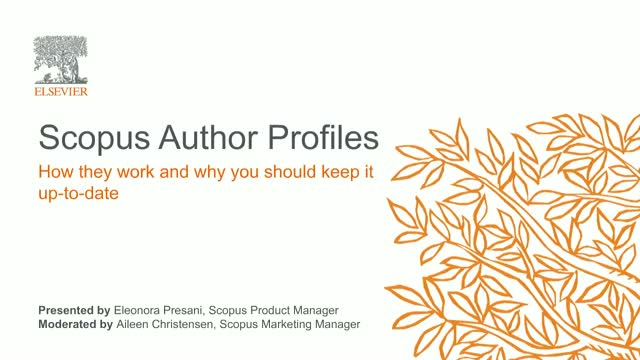 Scopus Author Profiles: How they work and why you should keep it up-to-date