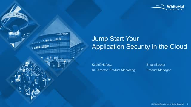 Jump Start your Application Security in the Cloud