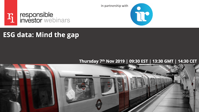 ESG data: Mind the gap