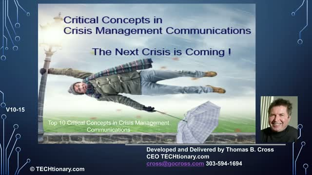 Top 10 Critical Concepts in Crisis Management Communications - October Update