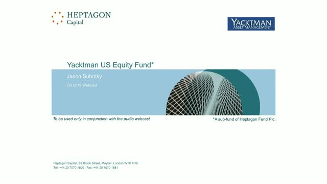 Yacktman US Equity Fund Q3 2019 Webcast