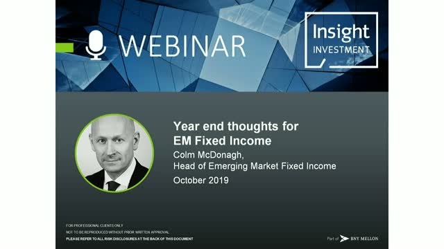 Emerging Market Review and Outlook   October 2019