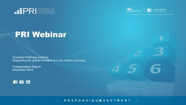 TPI Webinar: Transportation