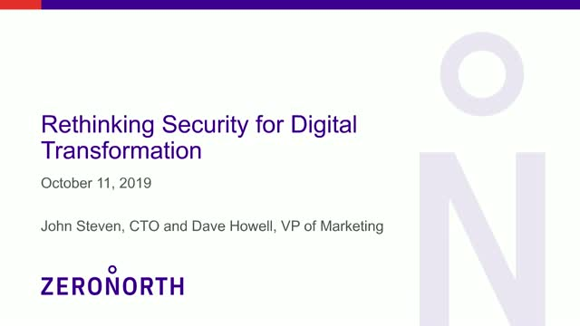 Rethinking Security for Digital Transformation