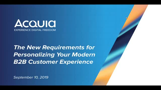 S1, E1: Personalizing Your Modern B2B Customer Experience