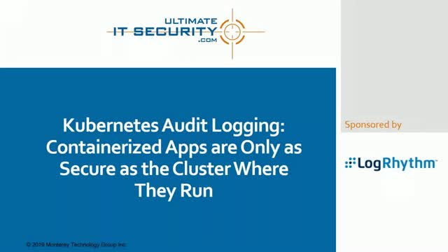 Kubernetes audit logging and container security