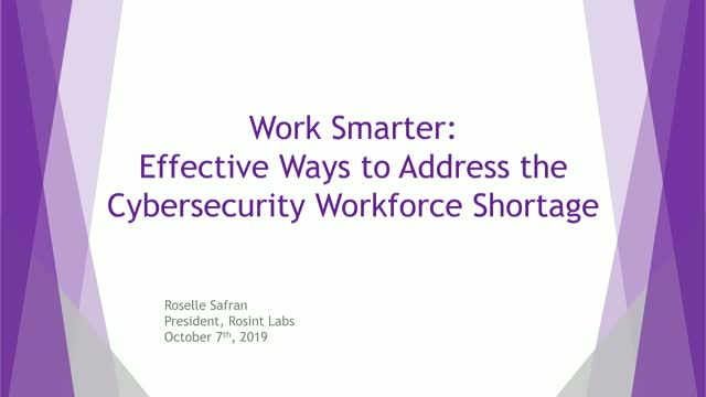 Work Smarter: Effective Ways to Address the Cybersecurity Workforce Shortage