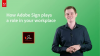 How Adobe Sign plays a role in your workplace