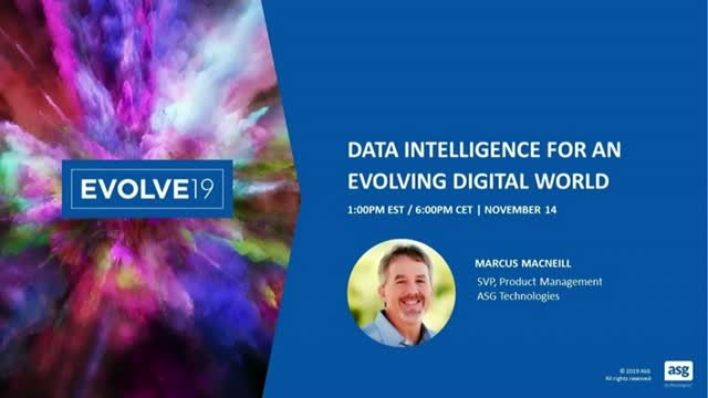 Data Intelligence for an Evolving Digital World