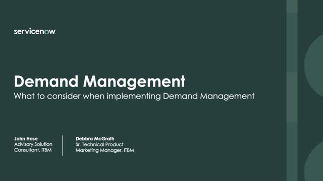 What to consider when implementing a demand management solution