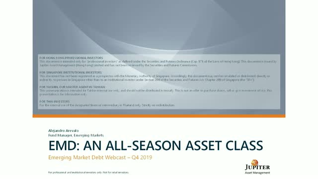 Jupiter Asset Management: Emerging Market Debt Strategy - November 2019