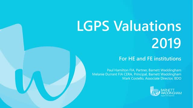Higher & Further Education and the 2019 LGPS valuation