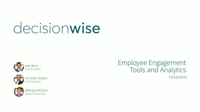 Employee Engagement Tools and Analytics