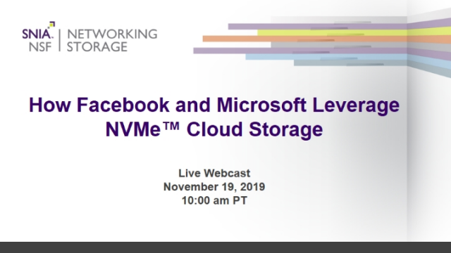 How Facebook & Microsoft Leverage NVMe Cloud Storage