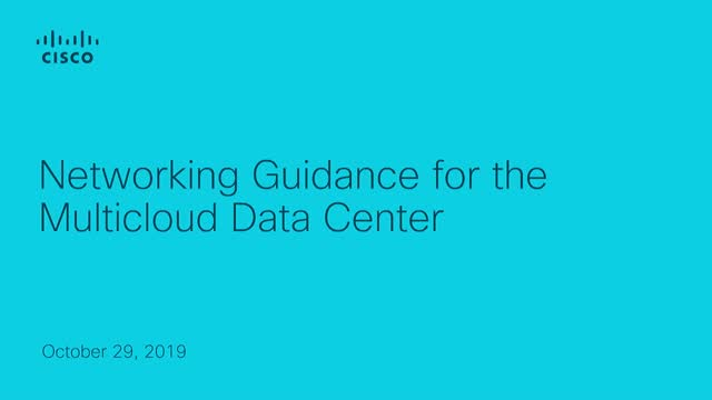 Networking Guidance for the Multicloud Data Center