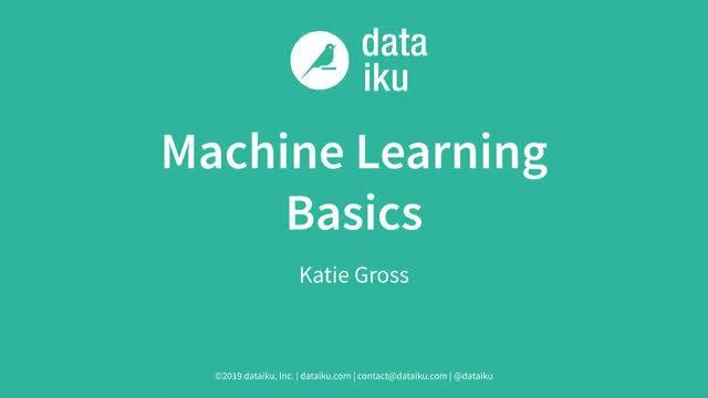Machine Learning Basics: Algorithms Are Your Friend