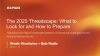 The 2020 Threatscape: What to Look for and How to Prepare